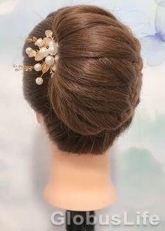 Front Hair Styles, Medium Hair Styles, Bun Hairstyles For Long Hair, Braided Hairstyles, Hairstyle Look, Gents Hair Style, Bridal Hair Buns, Hair Videos, Hair Hacks