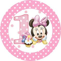 Minnie Baby - Kit Completo com molduras para convites, rótulos para guloseimas…