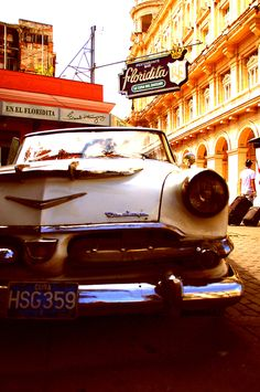 1956 Dodge, Havana, Cuba, in front of el Floridita
