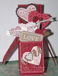 Valentine's card in a box.