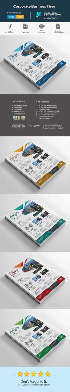 Corporate Business Business And Flyers On