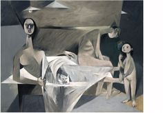 Louis le Brocquy A Family, 1951 Oil on canvas, 147 x 185 cm National Gallery of Ireland Drawing Poses, Painting & Drawing, Figure Painting, Irish Painters, Figurative Kunst, Thing 1, Painter Artist, Irish Art, The Draw