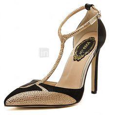 Pumps/Heels Negro/Blanco )- 10-12cm - Tacón de estilete para Zapatos de mujer - USD $22.99