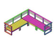 Download Hier Gratis Bouwplannen - Doe Het Zelver - Alles over bouwplannen en klustips Woodworking Plans, Woodworking Projects, Home Furniture, How To Plan, Park, Garden, Barbie, Diy, Design