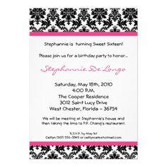 Damask invites