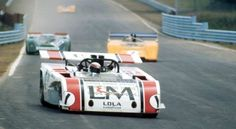 (1) Jackie Stewart - Lola T260 Chevrolet - Carl Haas Racing - (7) Peter Revson - McLaren M8F Chevrolet - McLaren Cars Ltd. - (43) Mario Cabral - Porsche 917K - David Piper - Six-Hours and The Can-Am, The Glen - Can-Am Watkins Glen - 1971 Canadian-American Challenge Cup, round 4