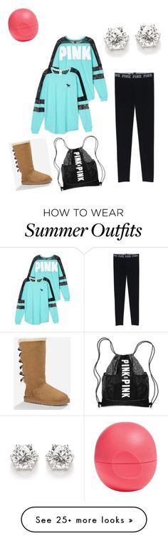 """""""My First Polyvore Outfit"""" by nykirahquaites on Polyvore featuring Eos, Victoria's Secret and UGG Australia"""