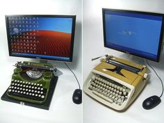 Everyone one will hate you but how awesome are these USB typewriters!