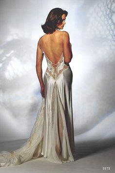 sexy elegant silver nightgown
