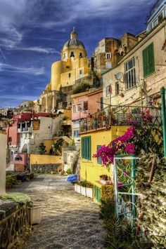 Island of Procida, Italy. Italy's smallest island - Procida looks like a box of color toffees Beautiful Places To Visit, Wonderful Places, Places Around The World, Around The Worlds, Places To Travel, Places To Go, Italy Destinations, Best Of Italy, Naples Italy