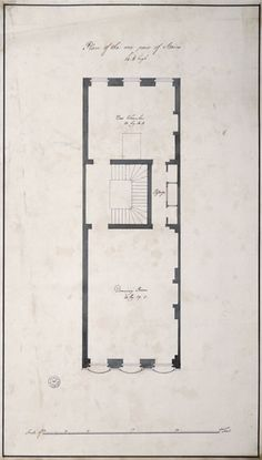 On the first floor of David Garrick's town house, the drawing room, the grandest in the house, was at the front overlooking the Thames and was the full width of the house. Behind this were the staircase and a short passage which led to the bed chamber behind. It may seem odd to us but bed rooms were more public than they are in modern houses and visitors would view the grand bed and furnishings in them. Soane.org Short Passage, Blue Prints, English Heritage, Brick And Mortar, Town House, Bed Rooms, Modern Houses, Drawing Room, Bricks