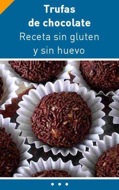 Trufas: receta sin gluten y sin huevo #bombones #singluten #sinhuevo #trufas