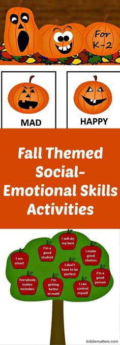 These Fall social and emotional activities teaches children how to make friends, recognize their emotions, problem solve, be more self aware, and more. These activities and games are designed to help boost children's self esteem and self confidence. Social Emotional Activities, Emotions Activities, Social Emotional Development, Teaching Social Skills, Therapy Activities, Counseling Activities, Emotions Preschool, Teaching Activities, Teaching Tools