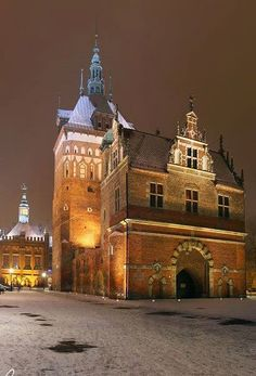 Torture prison's tower in Gdansk Poland- now an Amber Museum