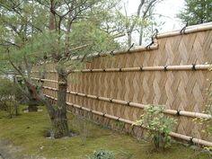 Japan Trip - Bamboo Fence In Higaki Pattern, Himeji.