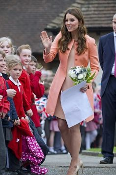 Catherine, Duchess of Cambridge enjoyed talking to children from a local primary school as she visits Naomi House on April 29, 2013 in Hampshire, England.