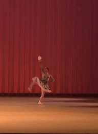 Miko Fogarty's Esmerelda Variation. This takes my breath away every time I watch it. Even ballone's at forty-five degrees are difficult enough, but the balance and control...at that height, with the pirrouette at the end...I didn't even know that was possible. And she was fifteen in this video. FIFTEEN. *facepalm*