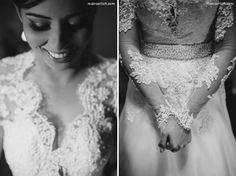 Vestido e véu: Lucy Botelho