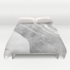 Marble - Silver Glitter on White Metallic Marble Pattern - $189