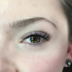 Natural looking volume extensions. Volume lashes can be light and fluffy or be dark and dense depending on the look you want to achieve  #lashes #lash #lashartist #eyelashextensions #volumelashes #beauty #eyelashes