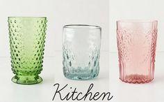 love these depression glass glasses