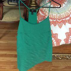 Aqua tank 100% polyester beautiful top! Aqua Tops Tank Tops