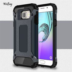 Case For Samsung Galaxy A3 2016 A310 A3100 A310F Armor Anti-Shock Silicone Hybrid Hard PC Phone Case For Samsung A3 2016 Cover]<