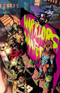 NEW WARRIORS #7 ... JULY 2014    CHRISTOPHER YOST (W) • MARCUS TO (A) Cover by Takeshi Miyazawa • The New Warriors are pulled into INHUMANITY as their own resident Inhuman, Haechi, is targeted by two different tribes of Inhumans. • Who are Mister Whiskers and Jake Waffles? Whose side are they on, good or evil? What does Jake Waffles possess that Speedball wants so badly? • And who is hunting NOVA?