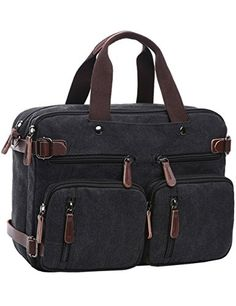 Best Seller mygreen Convertible Laptop Messenger Bag Backpack Rucksack  Briefcase School Bookbag   online 69672302c4861