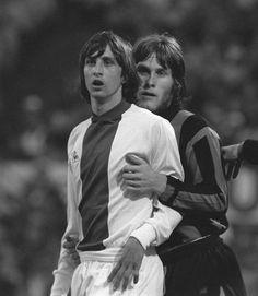 Johan Cruyff (Ajax Amsterdam) et Gabriele Oriali (Inter Milan)