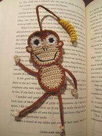 Monkey Bookmark pattern in Finnish Crochet Bookmark Pattern, Crochet Doily Diagram, Crochet Bookmarks, Crochet Doilies, Crochet Flowers, Crochet Patterns, Crochet Monkey, Love Crochet, Crochet Gifts