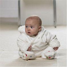 Polka Dot Snugsuit - Baby Snow Suit