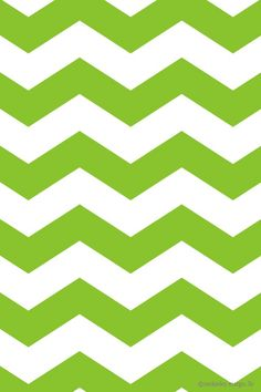 Green and White Chevron iPhone Background