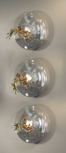 disc wall vases