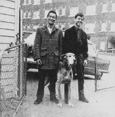 Bruce with his brother Peter and his dog Bobo