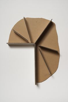 It's the strong organic/geometric contrast that caught my eye. I also like the use of corrugated cardboard as the medium.