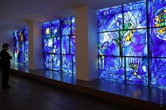 Stained Glass windows by Marc Chagall at the Art Institute of Chicago