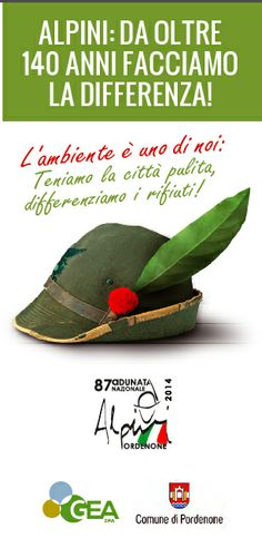 Benvenuti!  #alpiniadunata2014 #adunatagreen #angelidelriciclo #geatidifferenzia