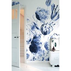 KEK Amsterdam Wall Mural Royal Blue Flowers II