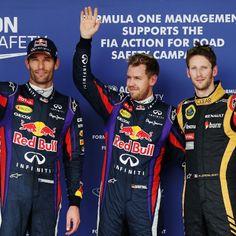 Vettel Beats Webber to Pole #usa2013