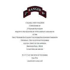 Invitation To A Change Of Command Wording All Correct
