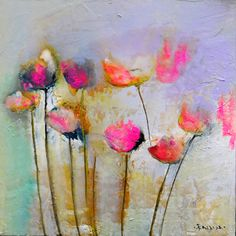 First Blush - mixed media painting by Emilija Pasagic at Crescent Hill Gallery