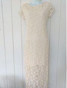 Cream Stretch Lace Maxi Dress Size S NWT Women's Spring And Summer Dress #Xhilaration #Maxi