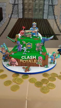 Clash Games provides latest Information and updates about clash of clans, coc updates, clash of phoenix, clash royale and many of your favorite Games Happy Birthday, Birthday Cake, Birthday Parties, Royal Cakes, Fondant, Clash Of Clans, Holidays And Events, Party Themes, Birthdays