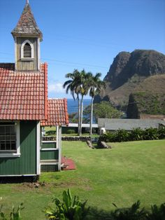 A beautiful little church on the North side of Maui, Hawaii.