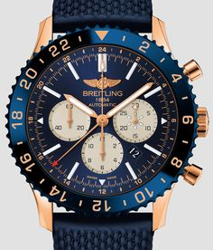 Breitling Chronoliner B04 Watch In Red Gold