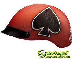 Tortugaz™ Universal Motorcycle Bike Helmet Cover Skin Protector DOT Spades
