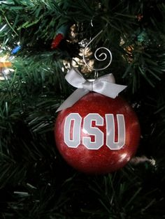 Grey OSU Ornament  Ohio State University by BakintoshArts on Etsy, $7.99