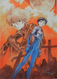 Kaworu y Shinji