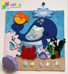 """Sabinenok"" - Toys made of felt. Diy Quiet Books, Baby Quiet Book, Felt Quiet Books, Quiet Book Templates, Quiet Book Patterns, Sensory Book, Baby Sensory, Handmade Baby, Handmade Toys"